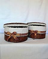 Košíky - Okrúhly box čokoládový / ks - 10014463_