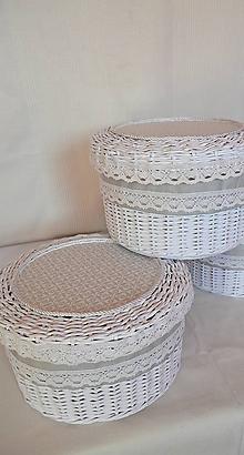 Košíky - Okrúhly box šedý / ks - 10014368_