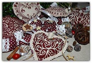 Dekorácie - Vianočné ozdoby - vidiecke vianoce 17 ks - 10020432_
