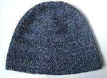 Čiapky - Modré more - alpaka čiapka - 10017284_