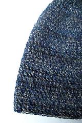 Čiapky - Modré more - alpaka čiapka - 10017285_