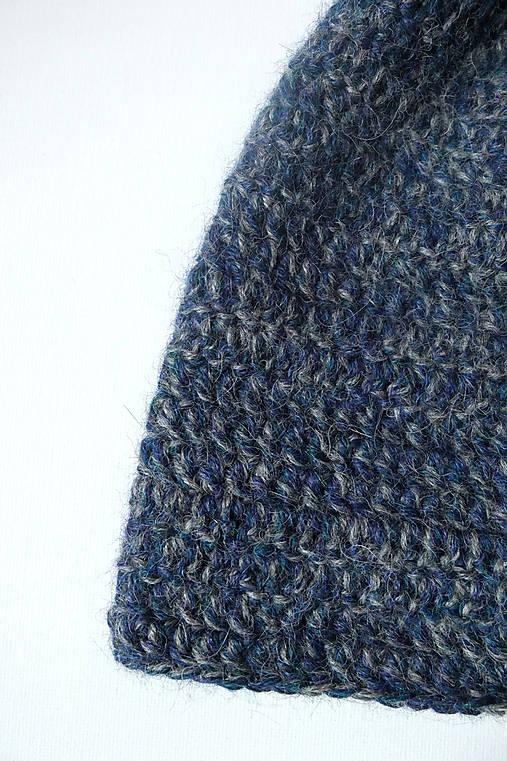 Modré more - alpaka čiapka