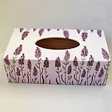 Krabičky - Krabica na papierové vreckovky-levanduľová - 10020226_