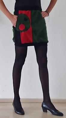 Sukne - Flísová sukně KOLEČKA s kapsou - 10018522_
