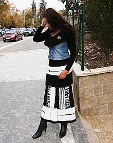 Sukne - lel sukňa black&white 7. - 10018792_
