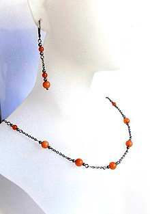 Sady šperkov - Souprava z chirurgické oceli s Avanturinem - 10017904_