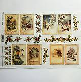 - Ryžový papier na decoupage -A4-R1279 - Vianoce, imelo - 10017516_