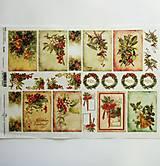 - Ryžový papier na decoupage -A4-R1284 - Vianoce, zvonček - 10017536_