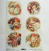 - Ryžový papier na decoupage -A4-R999 - Vianoce, deti, retro - 10017538_
