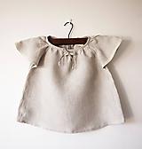 Detské oblečenie - Limitovka - ľanová dievčenská košielka/blúzka - 10019172_
