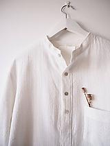 Oblečenie - Limitovka - pánska košeľa z ramie - 10019296_