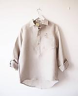 Limitovka - pánska ľanová košeľa-na objednávku