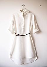 - Limitovka - dámske košeľové šaty z ramie - 10019369_