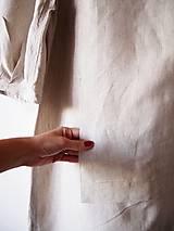 Šaty - Limitovka - dámske ľanové šaty s riasenými rukávmi - 10019527_