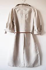 Šaty - Limitovka - dámske ľanové šaty s riasenými rukávmi - 10019536_