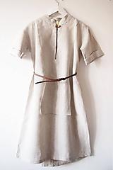 Limitovka - dámske ľanové šaty s krátkym rukávom