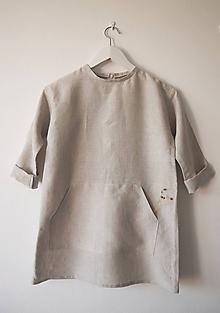 Detské oblečenie - Limitovka - ľanové dievčenské šaty - 10019253_
