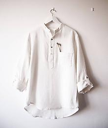 Oblečenie - Limitovka - pánska košeľa z ramie - 10019297_
