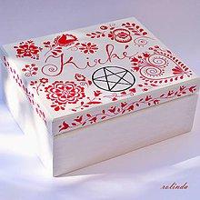 Krabičky - Malovaná krabička - 10020464_