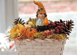 Dekorácie - Jesenná dekorácia (v košíku) - 10017311_