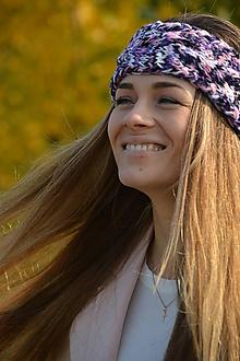Ozdoby do vlasov - čelenka fialový  melír - 10017132_