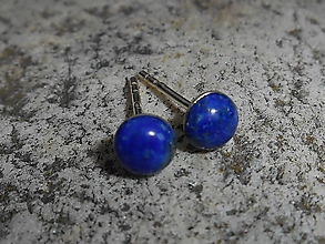Náušnice - brincos com lapis lazuli II - 10020062_