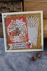 Papiernictvo - perníčky_ vianočná pohľadnica - 10018215_