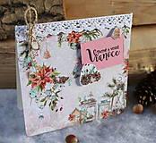 Papiernictvo - venček_ vianočná pohľadnica - 10018269_