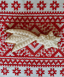 "Dekorácie - Perník s čipkou ""VIANOCE"" (Kométa) - 10020335_"