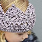 Detské čiapky - čelenka na uši PRINCESS lila pastel - 10019276_