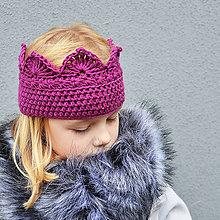 Detské čiapky - čelenka na uši PRINCESS cyklaménová - 10019289_