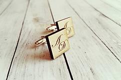 Šperky - Drevené manžetové gombíky - 10020473_