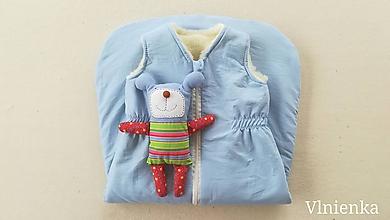 Textil - RUNO SHOP Spací vak pre deti a bábätká ZIMNÝ 100% MERINO na mieru Bledomodrý - 10019864_