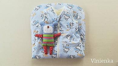 Textil - RUNO SHOP Spací vak pre deti a bábätká ZIMNÝ 100% MERINO na mieru Bledomodrý - 10020021_