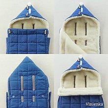Textil - RUNO SHOP fusak pre deti do kočíka 100% ovčie runo MERINO TOP super wash do úzkych vaničiek a autosedačky  ROYAL BLUE - 10020208_