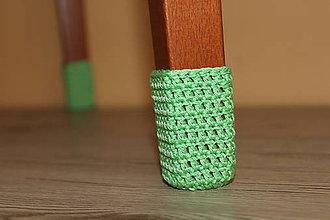 Úžitkový textil - Zelené papučky (sada pre 4 stoličky) - 10018228_