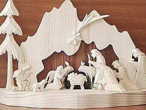 Dekorácie - Betlehem drevený