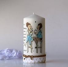Svietidlá a sviečky - Dekoračná sviečka pre kamarátku - 10020075_