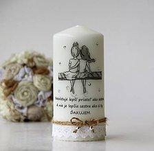 Svietidlá a sviečky - Dekoračná sviečka pre sestru - 10020121_