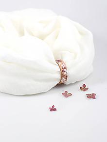 Šály - Smotanovobiely hrejivý ľanový nákrčník s maľovaným remienkom - 10018075_