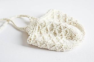 Detské čiapky - Pletená detská čiapka - krémová - 8993055_
