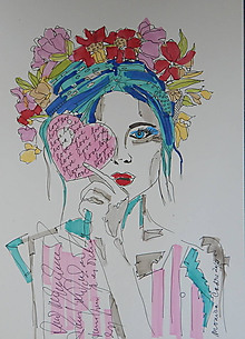 Kresby - Kresba - Woman Romantic - 10017492_
