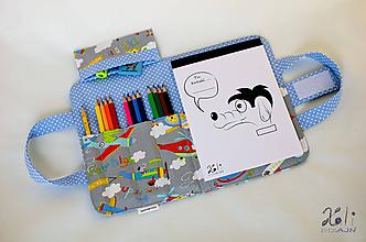 Detské tašky - Detský kufrík - pastelkovník Lietadlá - 10020070_
