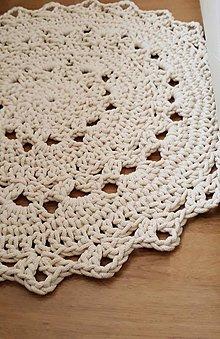 Úžitkový textil - Koberec z bavlneného špagátu - 10017299_