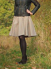 Sukne - Opravdická kolová - růže  v šedé - 10017096_