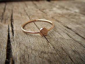 Prstene - Ružový Dot prstienok - 10018655_