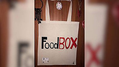 Nákupné tašky - ♥ Plátená, ručne maľovaná taška ♥ - 10019111_