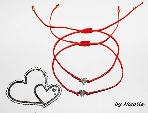 e2c1bd40f Minimalistické červené náramky / Nicolle1 - SAShE.sk - Handmade Náramky