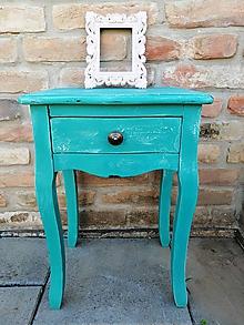 Nábytok - Nočný stolík s patinou - 10017181_
