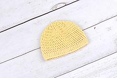 Detské čiapky - Žltá čiapka EXTRA FINE - 10018851_